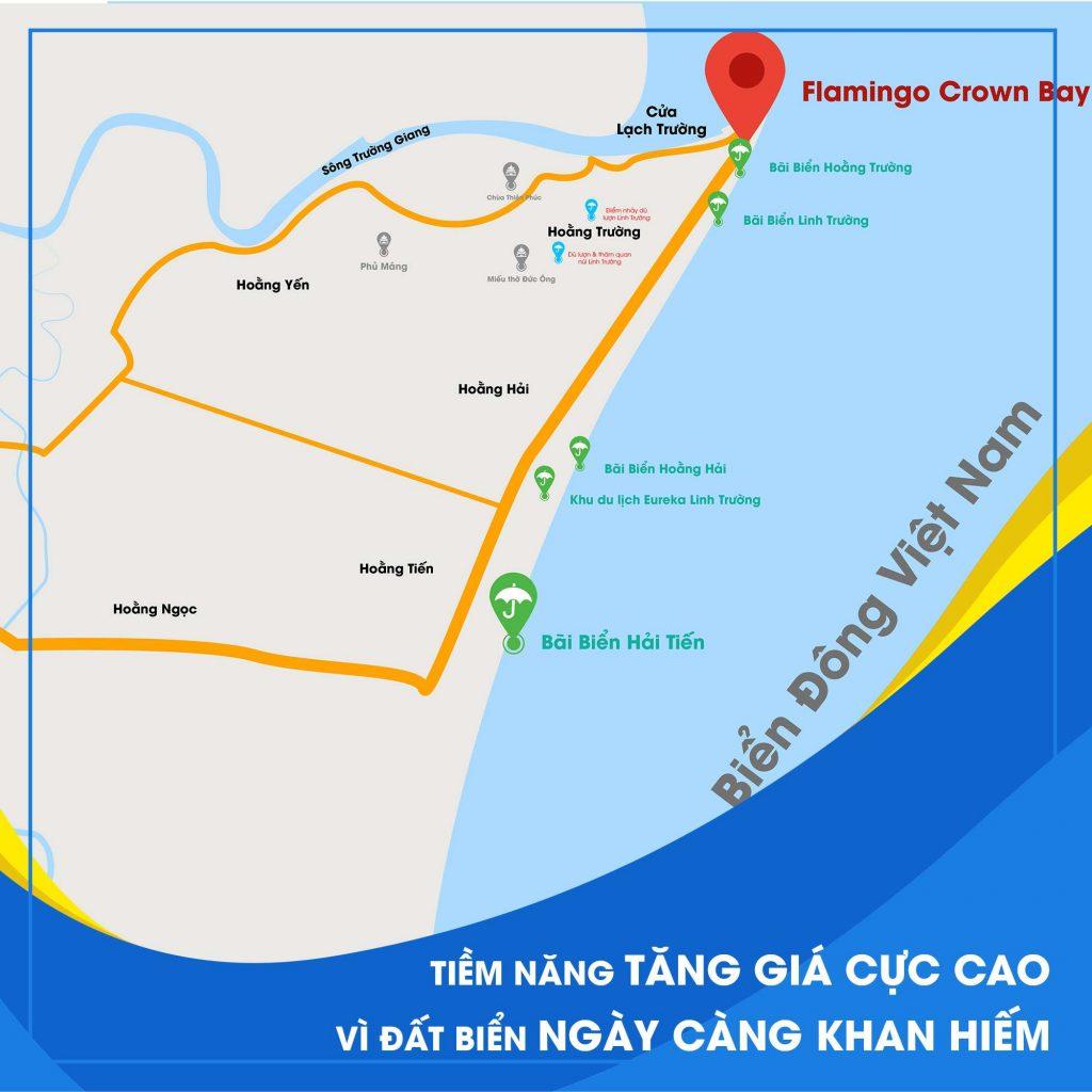 Vị trí dự án Flamingo Crown Bay Hải Tiến Thanh Hóa