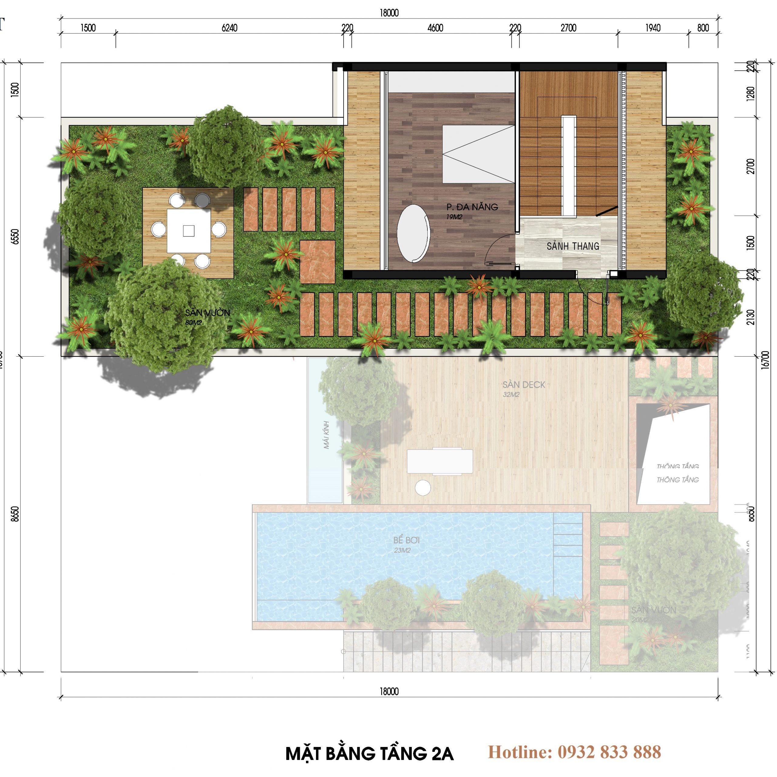 Thiết kế tầng 3 biệt thự đơn lập the legend villas flamingo đại lải