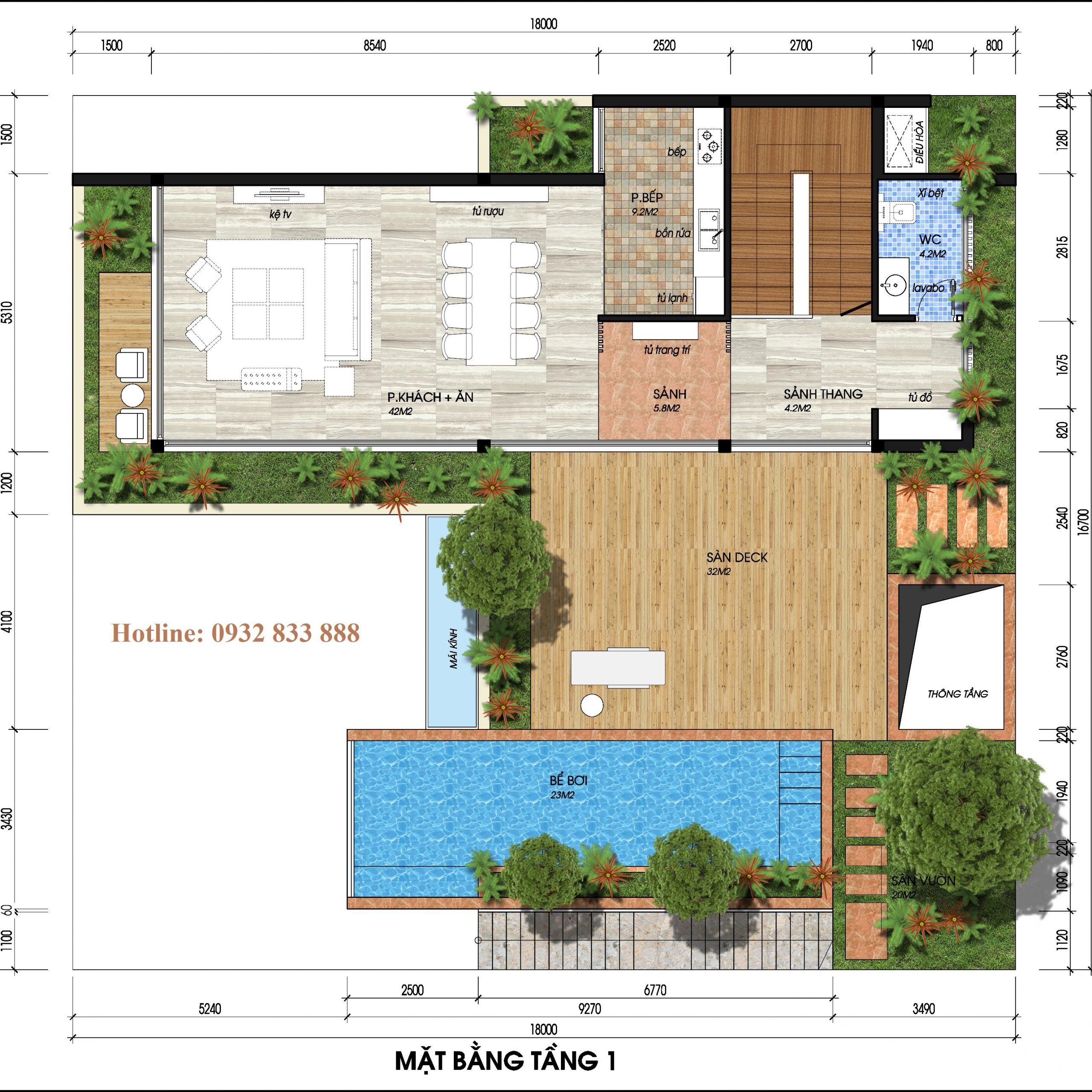 Thiết kế tầng 2 biệt thự đơn lập the legend villas flamingo đại lải