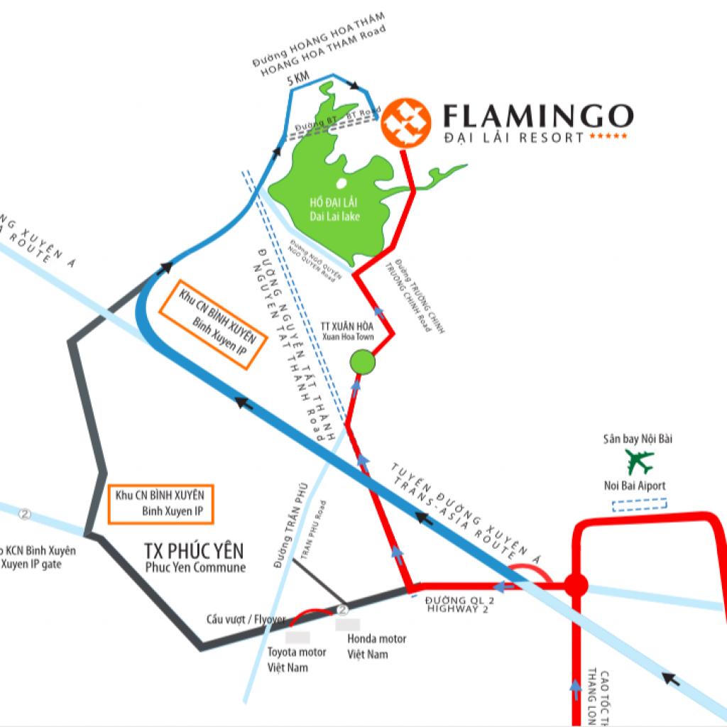 Vị trí Flamingo Đại Lải Resort